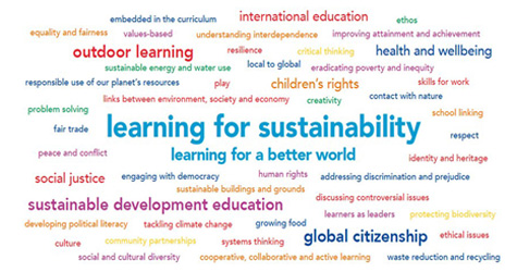learning for sustainability word cloud